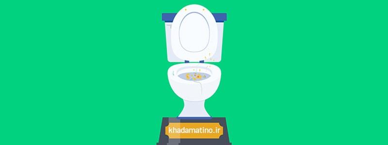 گرفتگی توالت فرنگی با مدفوع ، گرفتگی توالت با دستمال کاغذی ، رفع گرفتگی توالت فرنگی ، رفع گرفتگی توالت فرنگی به روش خانگی