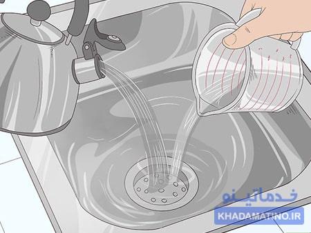 رفع گرفتگی لوله فاضلاب با استفاده از پاک کننده های خانگی
