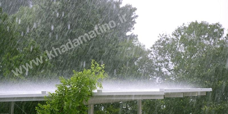رفع گرفتگی لوله پشت بام ، رفع گرفتگی لوله ناودان پشت بام ، باز کردن لوله راه آب باران در پشت بام
